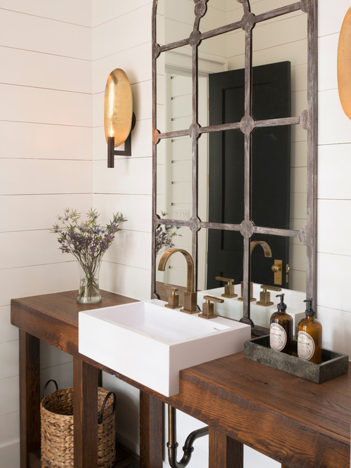 Powder Room Design Ideas 5 tags traditional powder room with cafe creme granite ceramic tile vessel sink wall sconce Saveemail