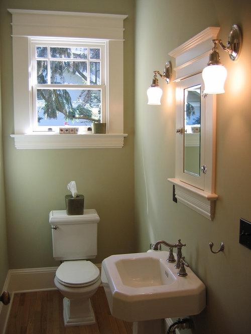 Craftsman Portland Powder Room Design Ideas Remodels Photos