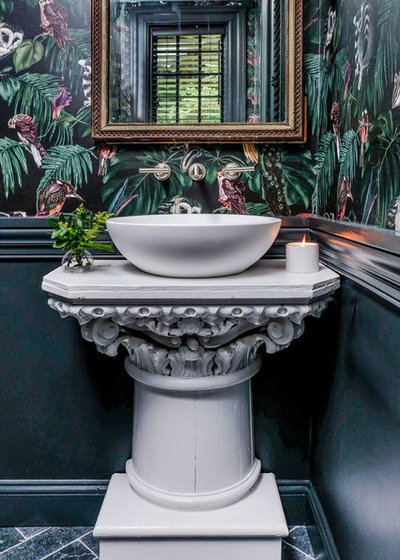 Eclectic Powder Room by JMT Fine Living