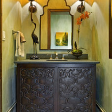 Contemporary Powder Room by Bravo Interior Design