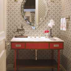 Contemporary Powder Room by Andrea Schumacher Interiors