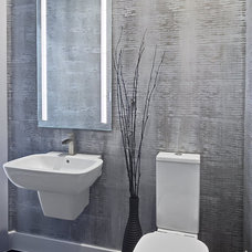 Contemporary Powder Room by AUSTIN DESIGN GROUP