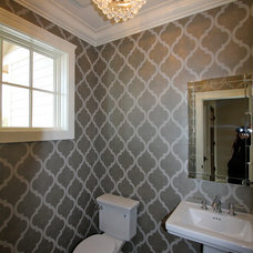 Traditional Powder Room by BohLand Homes