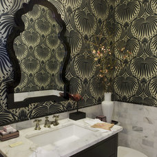 Eclectic Powder Room by Charles C. Almonte, AIA ASID