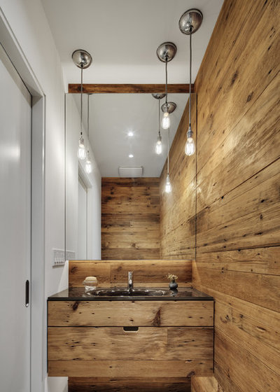 Contemporary Cloakroom by Blender Architecture LLC