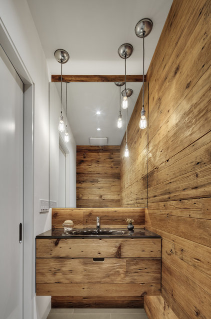 Contemporary Powder Room by Blender Architecture