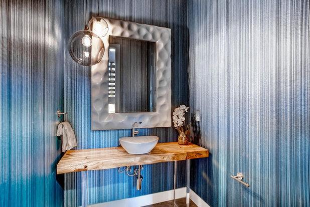 Contemporary Powder Room 2595 S Vine St, Denver