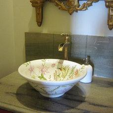 Traditional Powder Room by Pamela Foster & Associates, Inc.