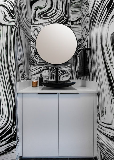 Contemporary Powder Room by Volpi Photographer