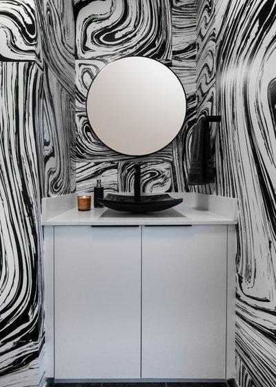 Contemporary Powder Room by Volpi Photographer