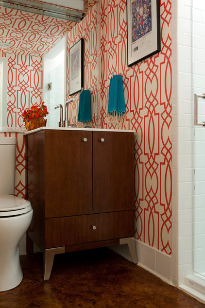 Contemporary Powder Room by Tongue & Groove