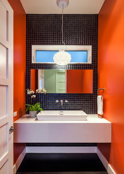 Contemporary Powder Room by Martine Paquin Design