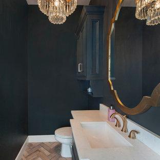 Idée de décoration pour un WC et toilettes style shabby chic.