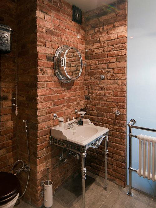 Photos et idu00e9es du00e9co de WC et toilettes avec un mur orange