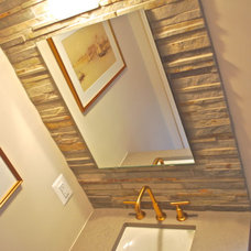 Modern Powder Room by William L.  Feeney Architect LLC