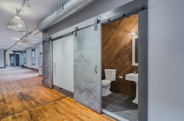 Industrial Powder Room by Domus