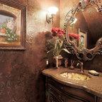 Dunstable Victorian Bathroom - Traditional - Powder Room - Boston - by Denyne Designs