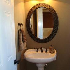 Traditional Powder Room by Kim Johnson Interiors