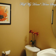 Contemporary Powder Room by Fluff My House! Home Staging Inc.