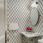 Powder Rooms Amp Small Bath Ideas Traditional Cloakroom