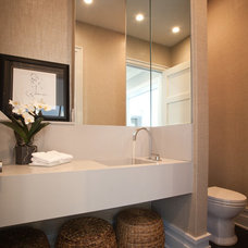 Contemporary Powder Room by Monmouth Custom Builders