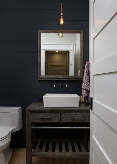 Farmhouse Powder Room by Two Hawks Design and Development