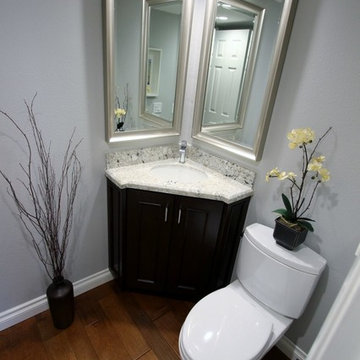 80 - Irvine - Transitional Kitchen Remodel with Custom Cabinets & Powder room