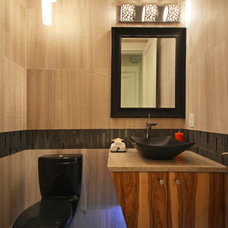 Contemporary Powder Room by Integrity Builders