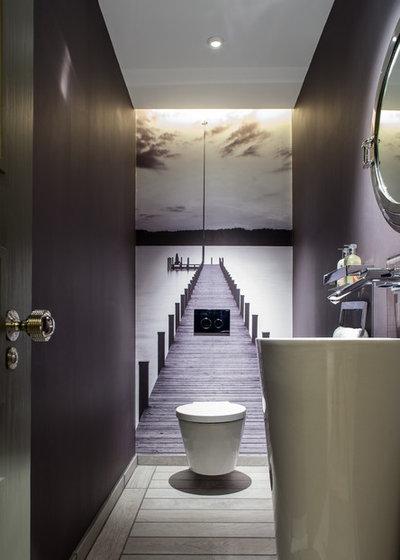 Contemporaneo Bagno di Servizio by Vastu Interior Design Ltd