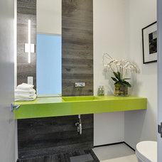 Contemporary Powder Room by Amit Apel Design, Inc.