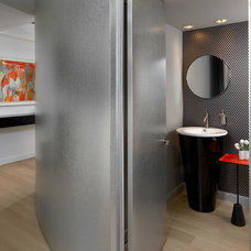Contemporary Powder Room by Mitchell Channon Design