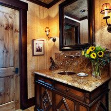Traditional Powder Room by Jordan Design Studio, Ltd.