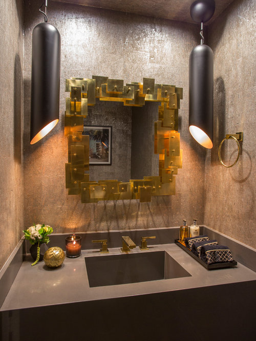 Best small powder room design ideas remodel pictures houzz - Small powder room designs ...