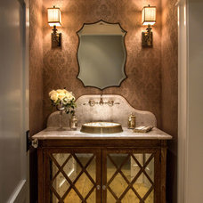 Traditional Powder Room by GRADY-O-GRADY Construction & Development, Inc.