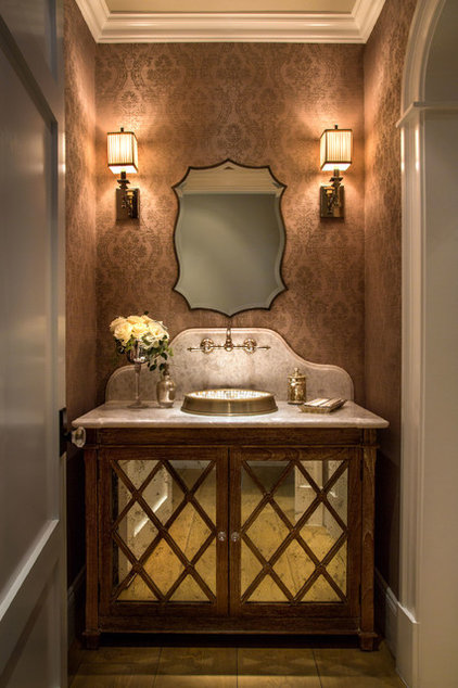 Traditional Powder Room by GRADY-O-GRADY Construction & Development, Inc.