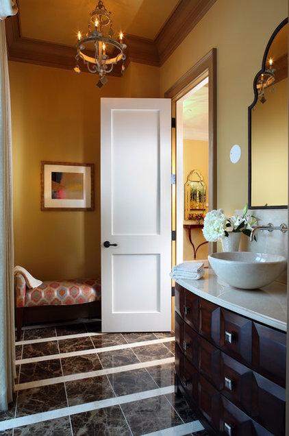 Contemporary Powder Room by Sroka Design, Inc.
