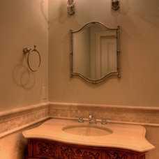 Traditional Powder Room by Parker Stuckey Residential