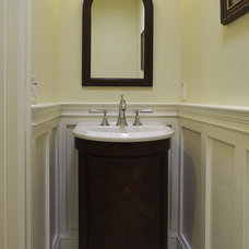 Craftsman Powder Room by Mahoney Architects & Interiors