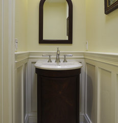 traditional powder room by Mahoney Architects & Interiors