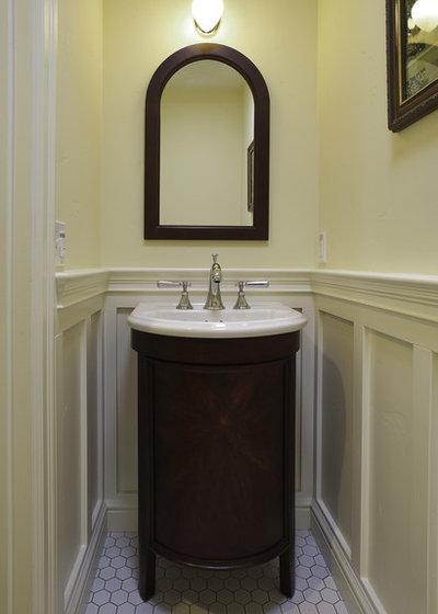 Craftsman Powder Room by Mahoney Architects & Interiors