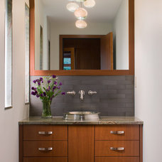 Modern Powder Room by Point One Architects