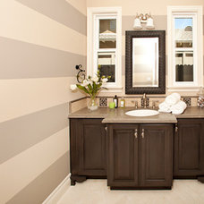 Traditional Powder Room ABC Builder, Inc.