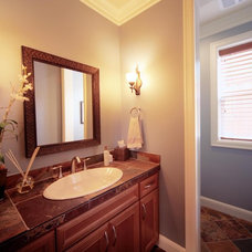 Traditional Powder Room by LisaLeo designs