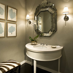 modern powder room by Craig Denis