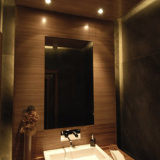 Contemporary Powder Room by DeMicoli & Associates