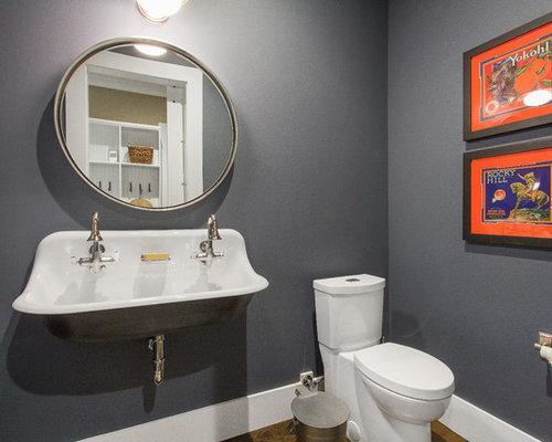 Handfat Toalett : Foton och badrumsinspiration för små badrum med ett avlångt handfat