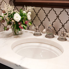 Traditional Powder Room by Karr Bick Kitchen and Bath