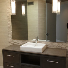 Contemporary Powder Room by T & E Group