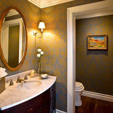 Traditional Powder Room by Denise Morrison Interiors