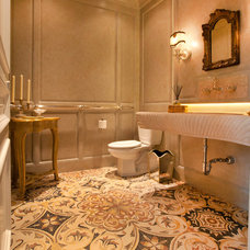 Contemporary Powder Room by Craig Tuttle Construction, Inc.